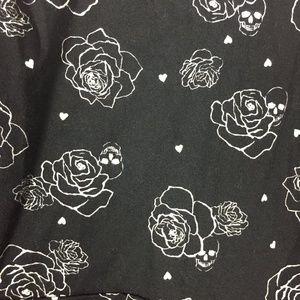 torrid Dresses - Torrid Black Skull Roses Fit Flare Skater Lattice